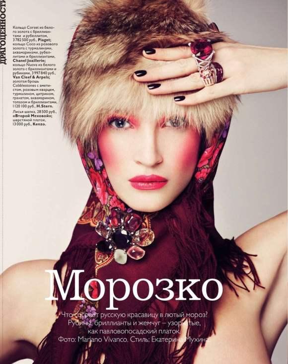 Marta Berzkalna for Vogue Russia January 2011