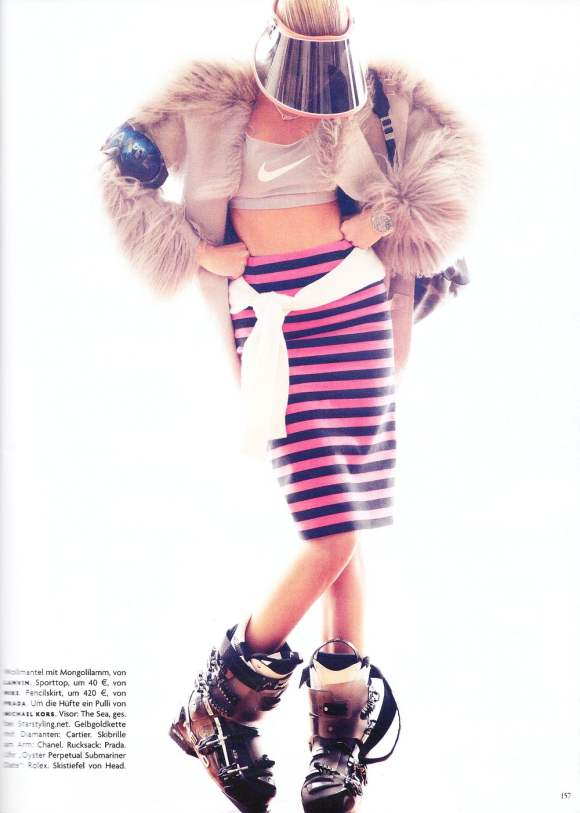 Maryna Linchuk for Vogue Germany December 2010 4