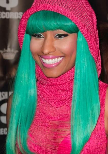 Nicki Minaj 2010 Colorful Hairstyles