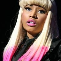 Nicki Minaj blonde hair dipped in pink dye
