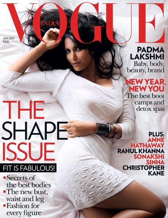 Padma Lakshmi for Vogue India January 2011