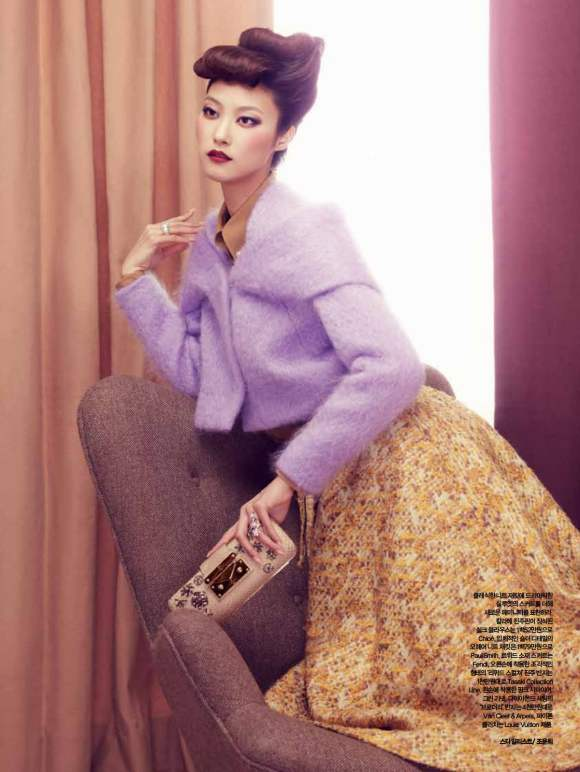 Park Ji Hye Choi A Ra for Harpers Bazaar Korea December 2010 2
