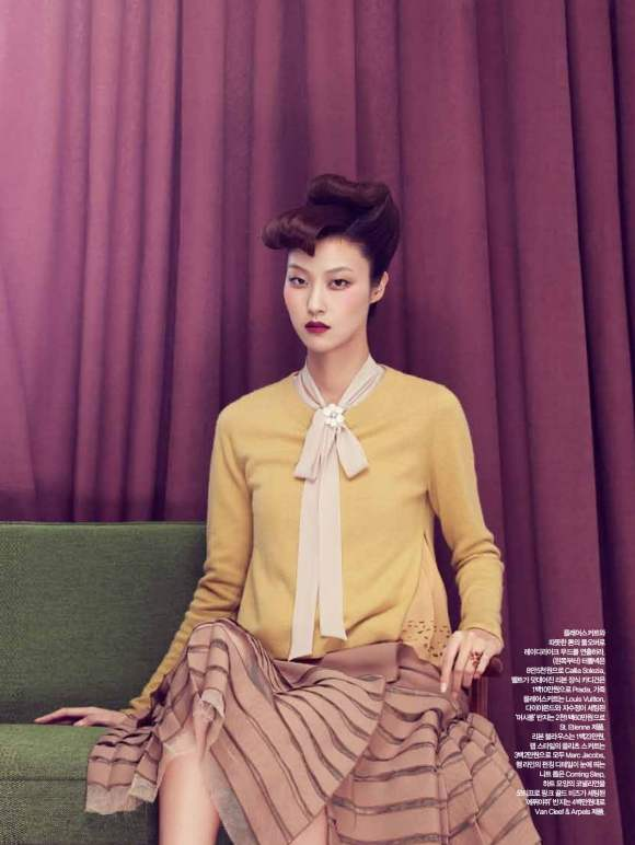 Park Ji Hye Choi A Ra for Harpers Bazaar Korea December 2010 6