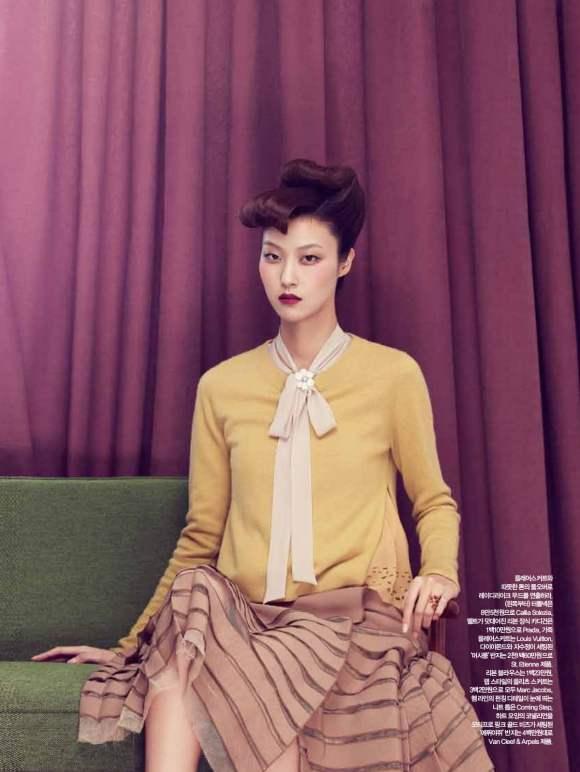 Park Ji Hye Choi A Ra for Harpers Bazaar Korea December 2010 6