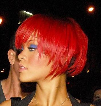 Rihanna red cropped hair August