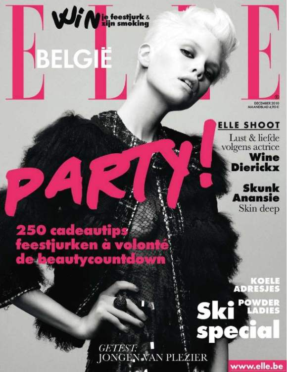 Stella Maxwell for Elle Belgique December 2010