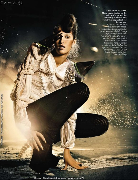 Tamara Moss for Vogue India December 2010