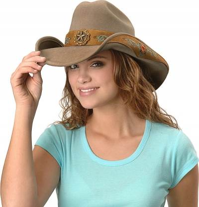 Western hats or cowboy hats for women
