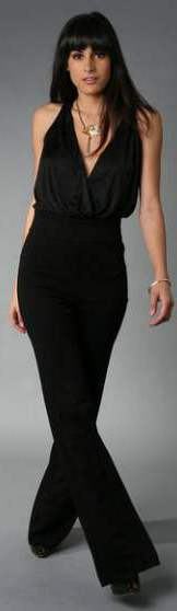 black halterneck Jumpsuits for formal occasions