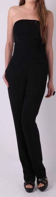 black strapless Jumpsuits for formal occasions