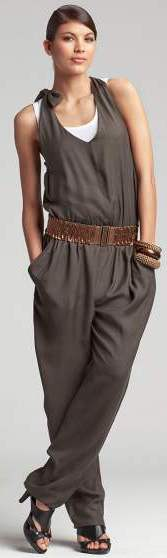 halterneck jumpsuit Formal chic look