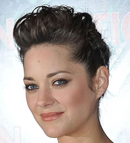 Marion cotillard quiffed hairstyle