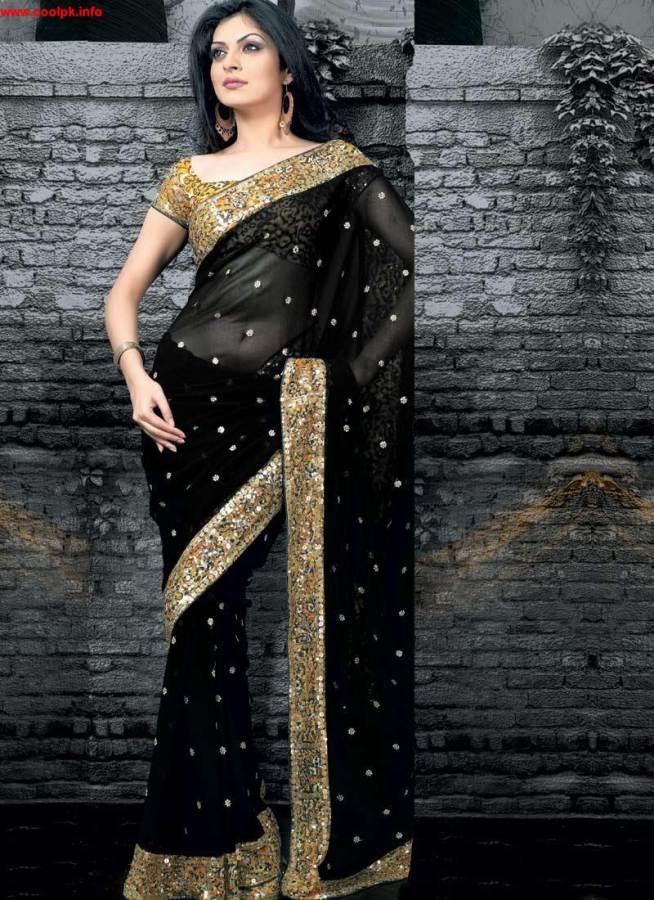 sheer sari for evening parties