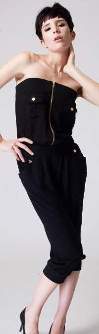 strapless black casual Jumpsuits