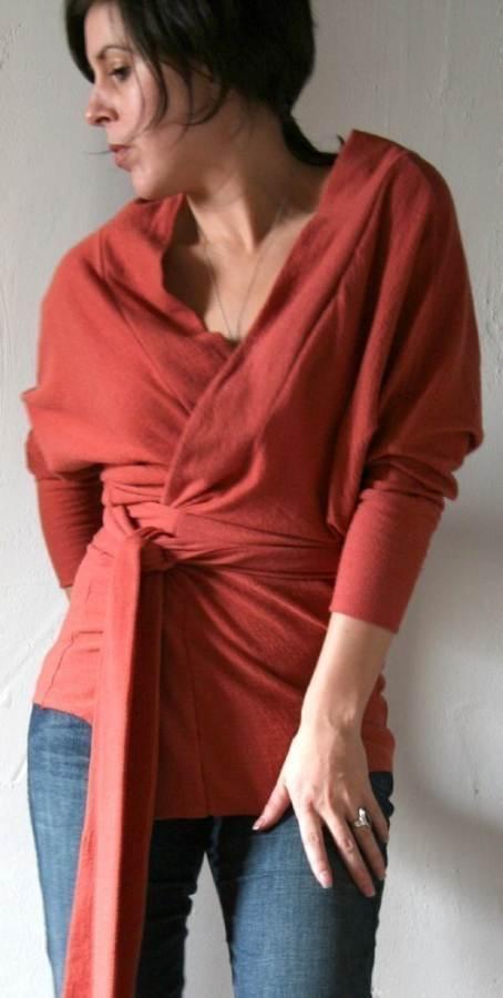 wrap cardigan styling for pear body shape