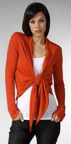 wrap cardigans front knotted style