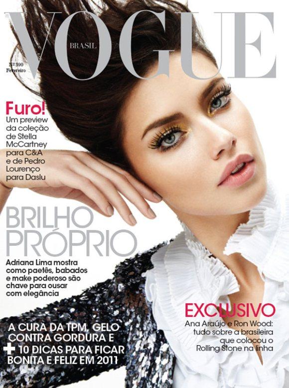 Adriana Lima Vogue Brazil February 2011