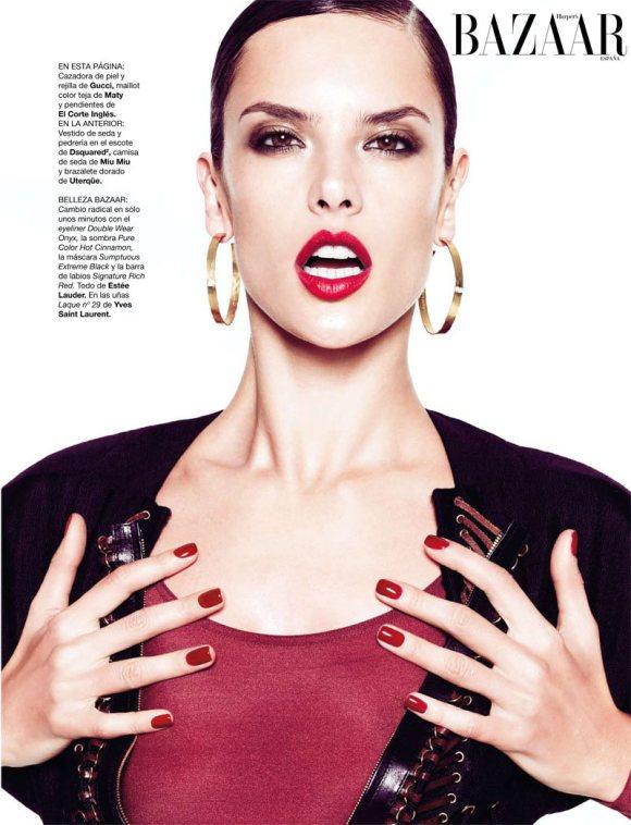 Alessandra Ambrosio Harpers Bazaar Spain Feb 2011 1