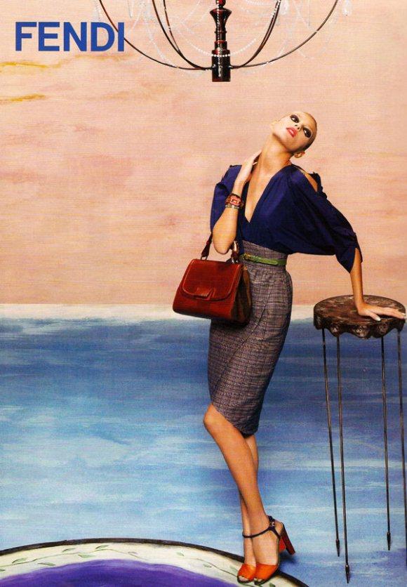 Anja Rubik for Fendi Spring 2011 Campaign