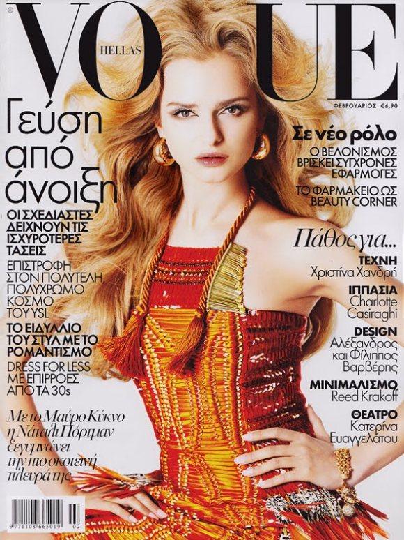 Anna Zakusylo Vogue Hellas February 2011