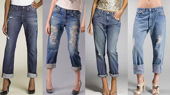 ну для начала они не штаны бойфренда, а джинсы, и имеют такой примерно...