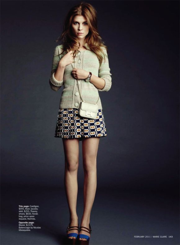 Clemence Poesy Marie Claire US February 2011 8