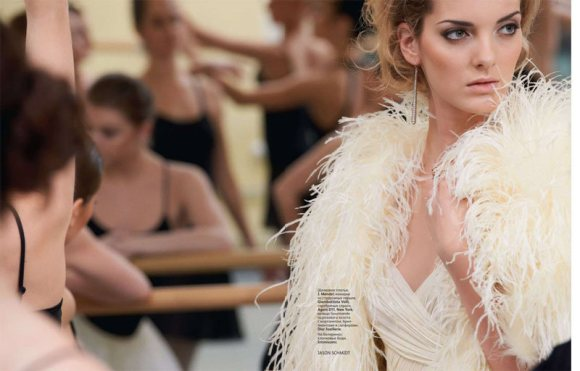 Denisa Dvorakova Vogue Russia February 2011 1