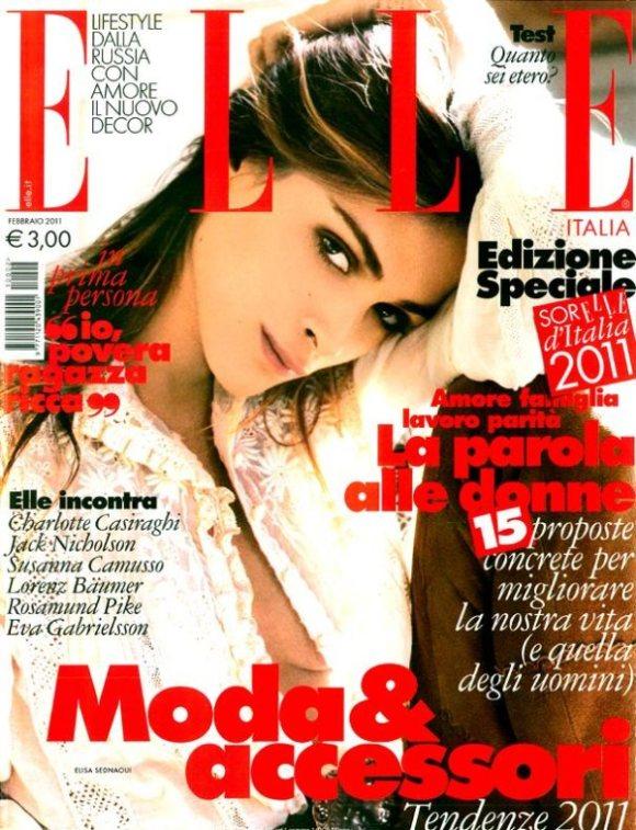 Elisa Sednaoui Elle Italia February 2011