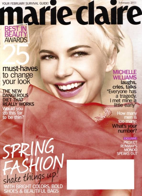 Michelle Williams US Marie Claire February 2011