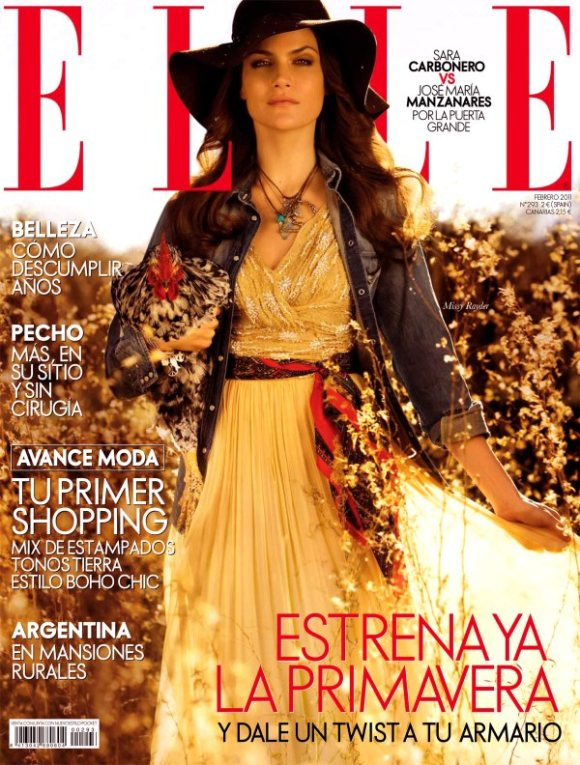 Missy Rayder Elle Spain February 2011