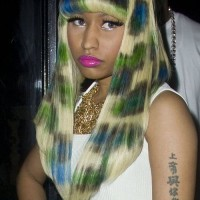 Nicki Minaj sports Leopard print hair