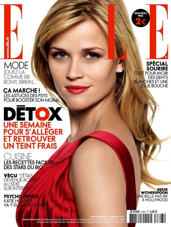 Reese Witherspoon for Elle France January 2011