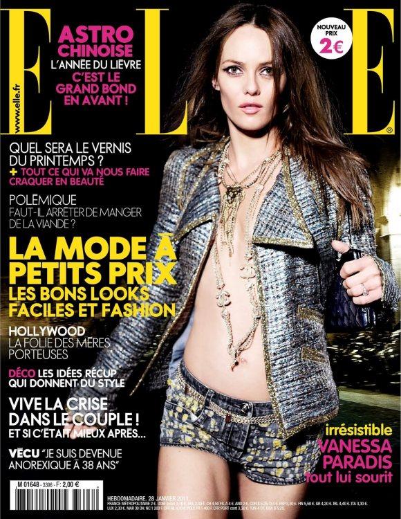 Vanessa Paradis Elle France January 2011