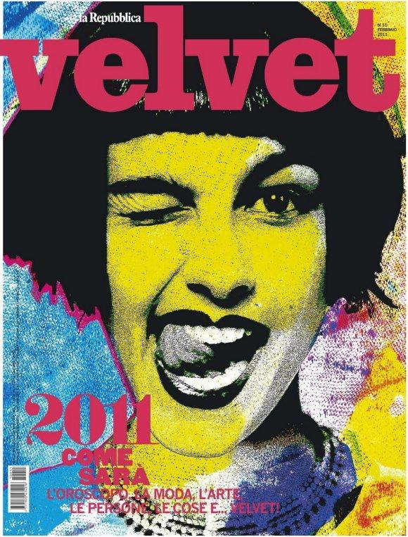Vika Volkute Velvet February 2011