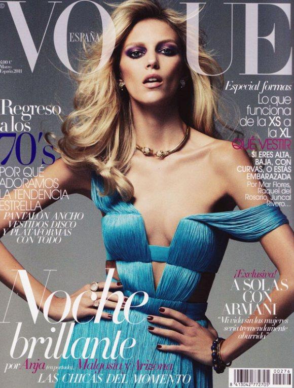 Anja Rubik Vogue Spain March 2011