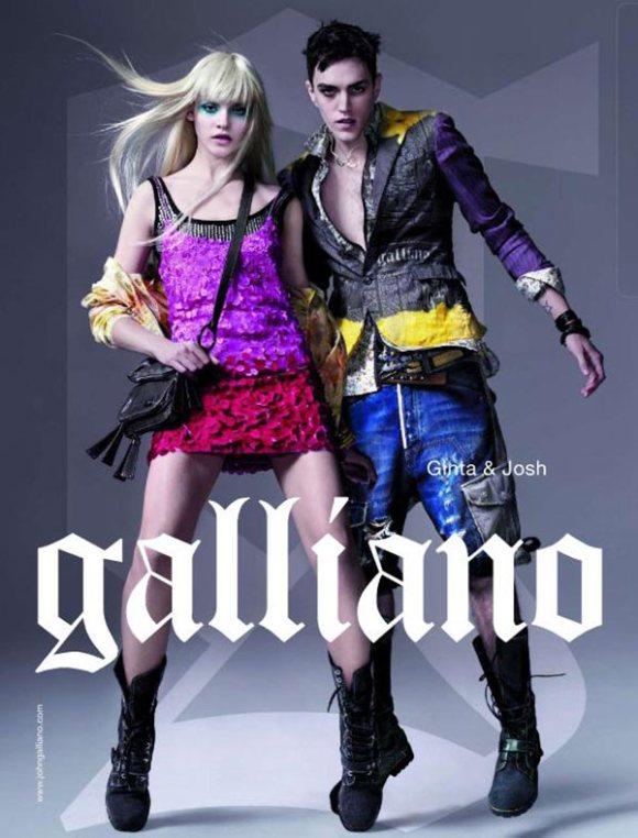 Ginta Lapina Galliano Spring 2011 Campaign