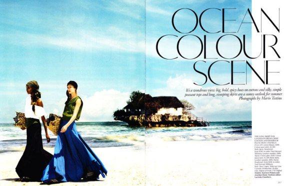 Jourdan Dunn Karmen Pedaru Vogue UK March 2011 2