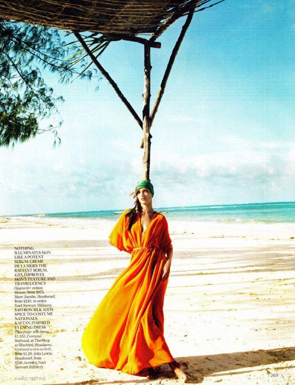 Jourdan Dunn Karmen Pedaru Vogue UK March 2011 4