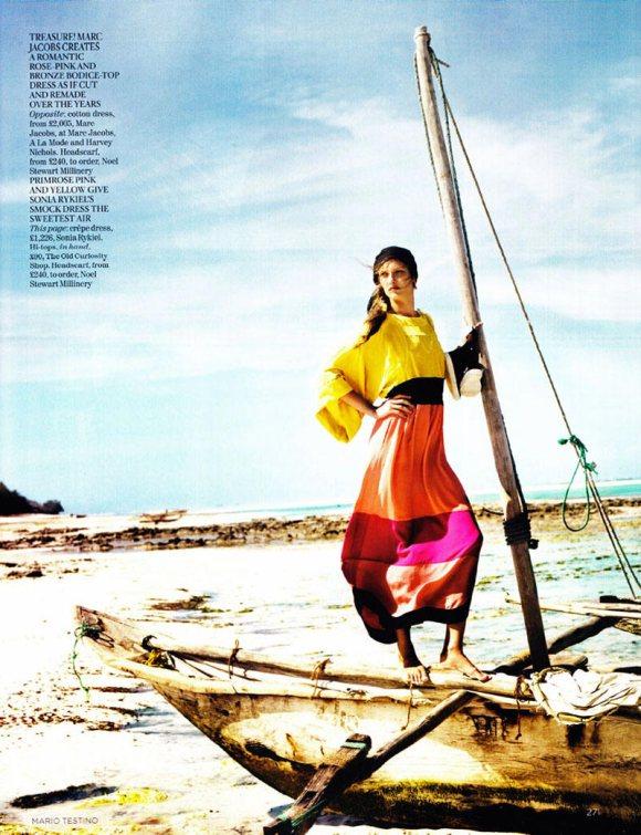 Jourdan Dunn Karmen Pedaru Vogue UK March 2011 5