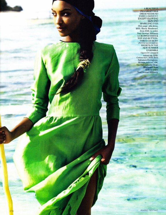 Jourdan Dunn Karmen Pedaru Vogue UK March 2011 7