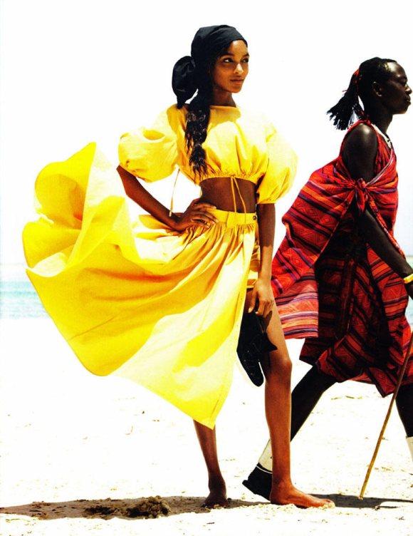 Jourdan Dunn Karmen Pedaru Vogue UK March 2011 8