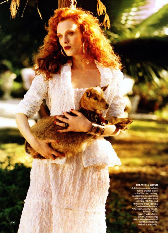 Karen Elson Vogue US March 2011 1