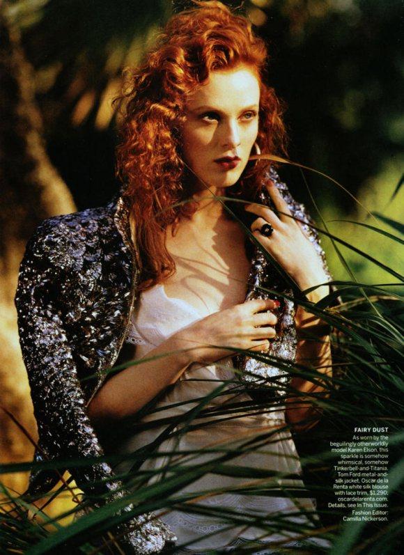 Karen Elson Vogue US March 2011 3