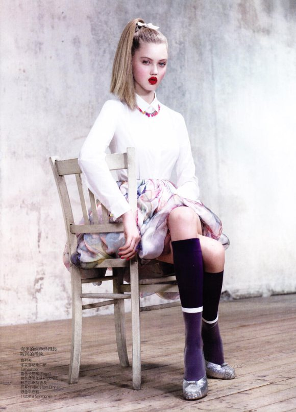 Lindsey Wixson Hailey Vogue China March 2011 10