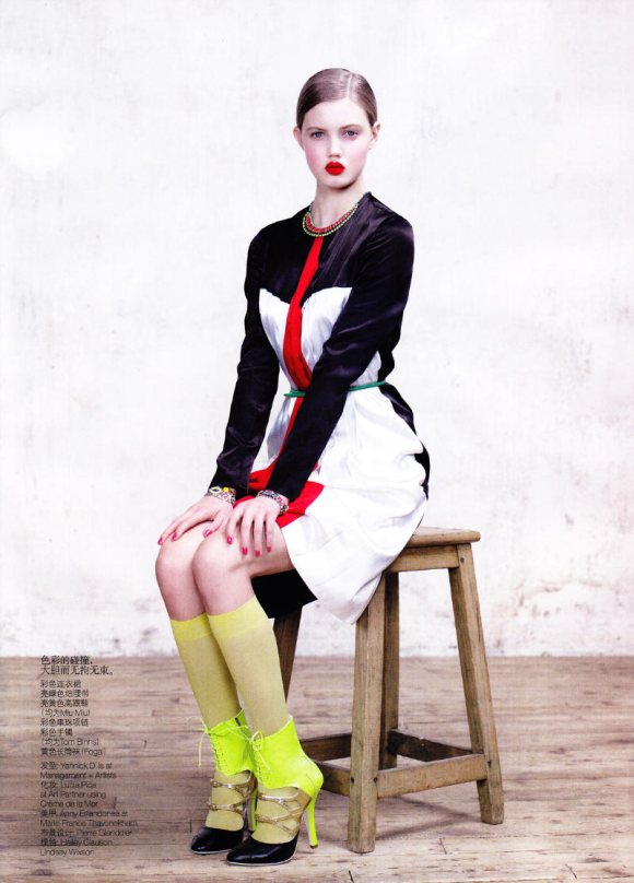 Lindsey Wixson Hailey Vogue China March 2011 2