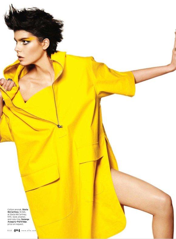 Milica Blagojevic Elle US March 2011 1