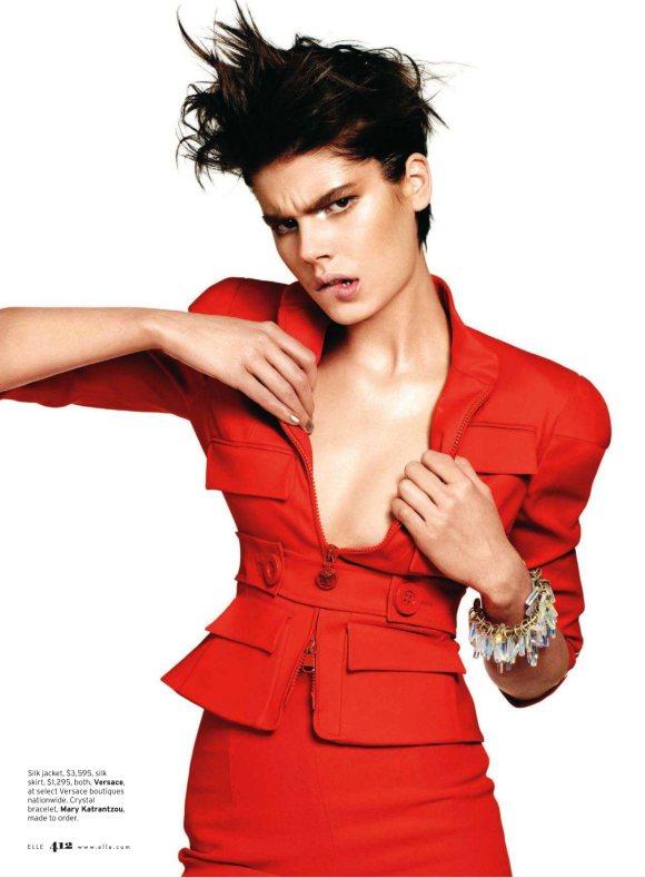 Milica Blagojevic Elle US March 2011 8