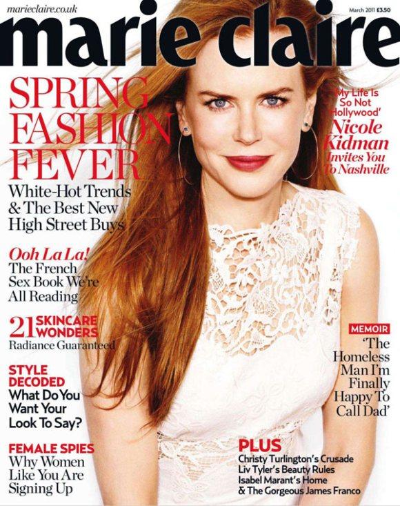 Nicole Kidman Marie Claire UK March 2011 1