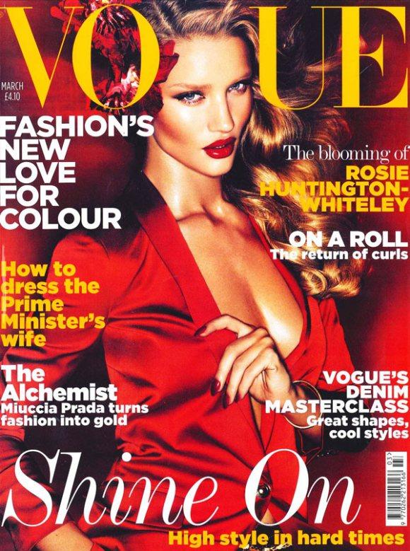 Rosie Huntington Vogue UK March 2011