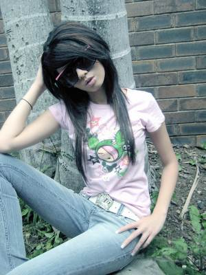 emo girl t-shirts and jeans